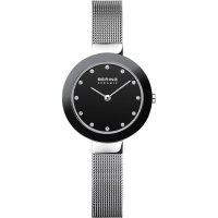 Bering - Swarovski Crystal Set, Stainless Steel/Tungsten - Mesh Bracelet Watch