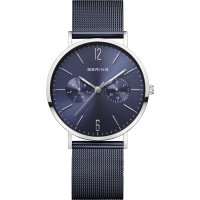 Bering - Classic, Stainless Steel/Tungsten Chronograph Mesh Strap Watch