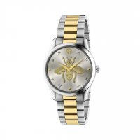 Gucci - Timeless, Stainless Steel/Tungsten - Yellow Gold Plated - Bee Emblem, Size 38mm - YA1264131