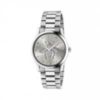Gucci - Timeless, Stainless Steel - Bee Emblem Watch Size 38mm - YA1264126