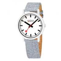 Mondaine - Essence, Plastic/Silicone - Crystal/Glass - Fabric Quartz Watch, Size 41mm