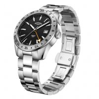 Rotary - Henley, Stainless Steel/Tungsten GMT Watch 40mm