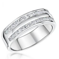 Jools - Cubic Zirconia Set, Sterling Silver - Ring, Size P