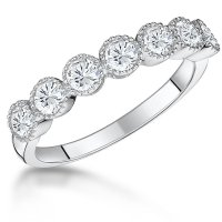 Jools - CZ Set, Sterling Silver - Ring, Size N