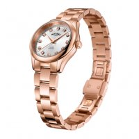 Rotary - Oxford, Diamond Set, Rose Gold Plated - Quartz Watch