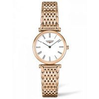 Longines - Grande Classique, Rose Gold Plated - Quartz Bracelet, Size 24mm