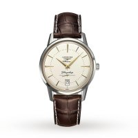 Longines - Flagship, Stainless Steel - Leather - Automatic , Size 38mm