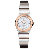 Omega - Constellation, Diamond Set, Stainless Steel/Tungsten - Rose Gold - 18ct Watch, Size 24mm