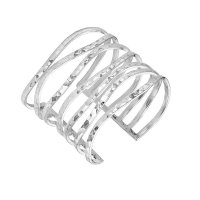 Dower and Hall - Waterfall, Sterling Silver Wave Cuff
