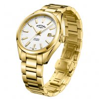Rotary - Havana Gold Plated Stainless Steel Watch