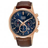 Pulsar - Quartz, Rose Gold Plated Chronograph
