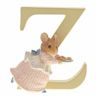 Enesco - Alphabet, Ceramic/Pottery/China Letter Z Appley Dapply Figurine