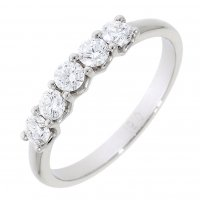 Guest and Philips - 18ct Yellow Gold and Platinum Diamond Half Eternity Ring