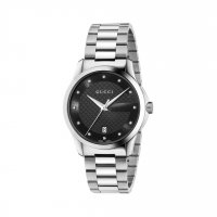 Gucci - G-Timeless, Stainless Steel Black Dial Watch