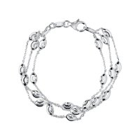 Links of London - Essential, Sterling Silver Bracelet 3 Row