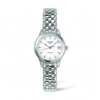 Longines - Flagship, Mother of Pearl, Diamonds Set, Stainless Steel - Automatic Watch
