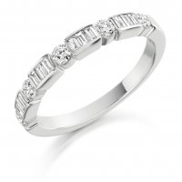 Guest and Philips - Platinum and Diamond Half Eternity Ring
