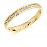 Guest and Philips - 9ct Yellow Gold and Diamond Half Eternity Ring Size L