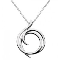 Kit Heath - Helix, Sterling Silver Wrap Necklace, Size 18""