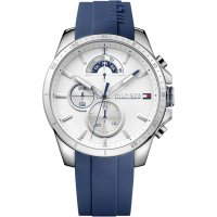 Tommy Hilfiger - Stainless Steel Silicone Strap Watch