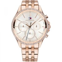 Tommy Hilfiger - Crystal Set, Stainless Steel- Bracelet Watch