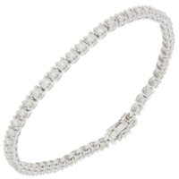 Guest and Philips - Platinum and Diamond Set Line Bracelet