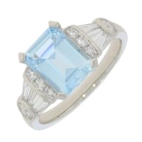 Guest and Philips - Platinum and Diamond Cluster Ring, Size N