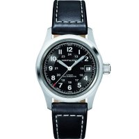 Hamilton - Khaki Field, Leather - Stainless Steel/Tungsten - Automatic Watch, Size 38mm