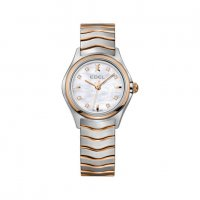 Ebel - Wave, MOP Diamonds Set, Stainless Steel/Tungsten - Rose Gold Plated - Quartz Watch