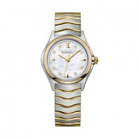 Ebel - Wave, Diamonds Set, Stainless Steel/Tungsten - Yellow Gold Plated - Quartz Watch