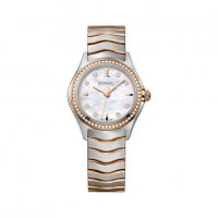 Ebel - Wave, Diamonds Set, Stainless Steel/Tungsten - Rose Gold Plated - Quartz Watch