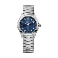 Ebel - Wave, Diamonds Set, Stainless Steel/Tungsten - quartz Watch