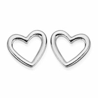 Chlobo - Sterling Silver Open Heart Stud Earring