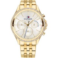 Tommy Hilfiger - Swarovski Crystals Set, Yellow Gold Plated - Chronograph Watch