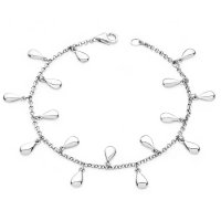 Lucy Quartermaine - Sterling Silver Tear Drop Anklet