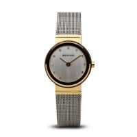 Bering - Classic, Stainless Steel/Gold Plate Milanese Bracelet Watch