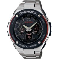 Casio - G-Shock, Stainless Steel Radio Controlled, Solar Powered, Multi-function Watch