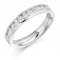 Guest and Philips - Platinum and Diamond Eternity Ring, Size Q