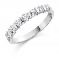 Guest and Philips - Platinum, 18ct Yellow Gold and Diamond  Eternity Ring, Size M