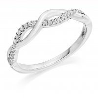 Guest and Philips - Platinum and Diamond Set Eternity Ring, Size M