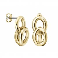 Calvin Klein - Yellow Gold Plated Statement Drop Earrings