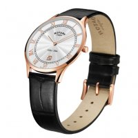Rotary - Ultra Slim, Rose Gold Plated Quartz Watch