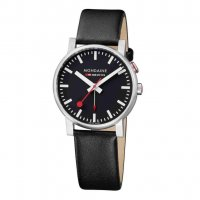 Mondaine - EVO2, 40 MM, BLACK LEATHER WATCH,