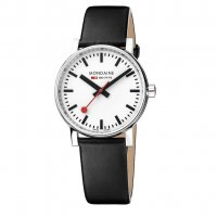 Mondaine - EVO2, 35 MM, BLACK LEATHER WATCH,