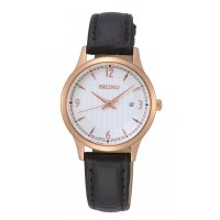Seiko - Basic, Rose Gold Plated Ladies Date Watch