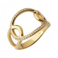 Links of London - Ovals, White Topaz Set, Rose Gold Plated - Rings, Size P