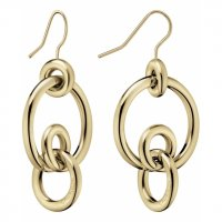 Calvin Klein - Yellow Gold Plated Drop Earrings