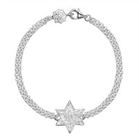 Dower and Hall - Sterling Silver Engravable star bracelet