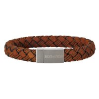 Son of Noa - Leather - Stainless Steel - Bracelet, Size 23cm