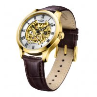 Rotary - Greenwich, Rotary Gold plated Skeleton watch Size 42mm
